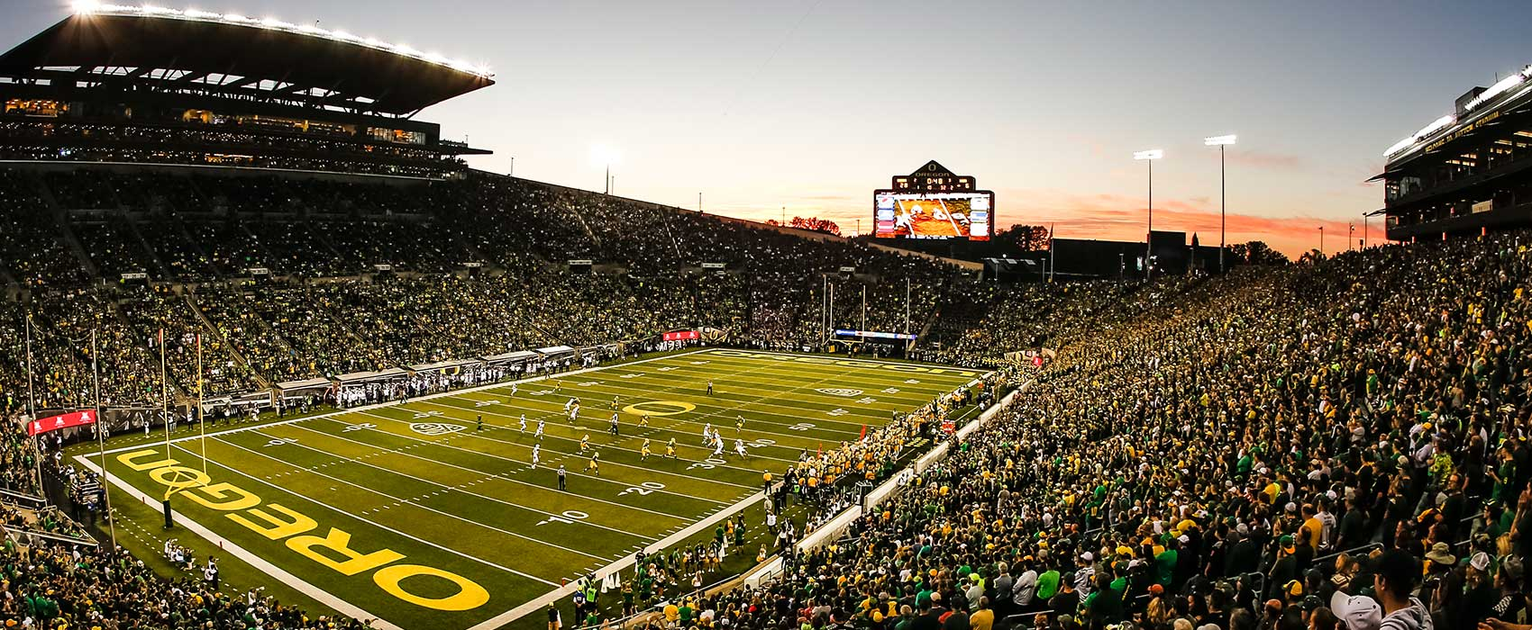 U Of Oregon Map.Autzen Stadium University Of Oregon Athletics