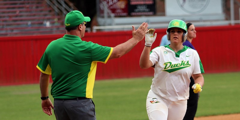Lindvall Leads Ducks to 10-4 Win at ASU - University of Oregon Athletics