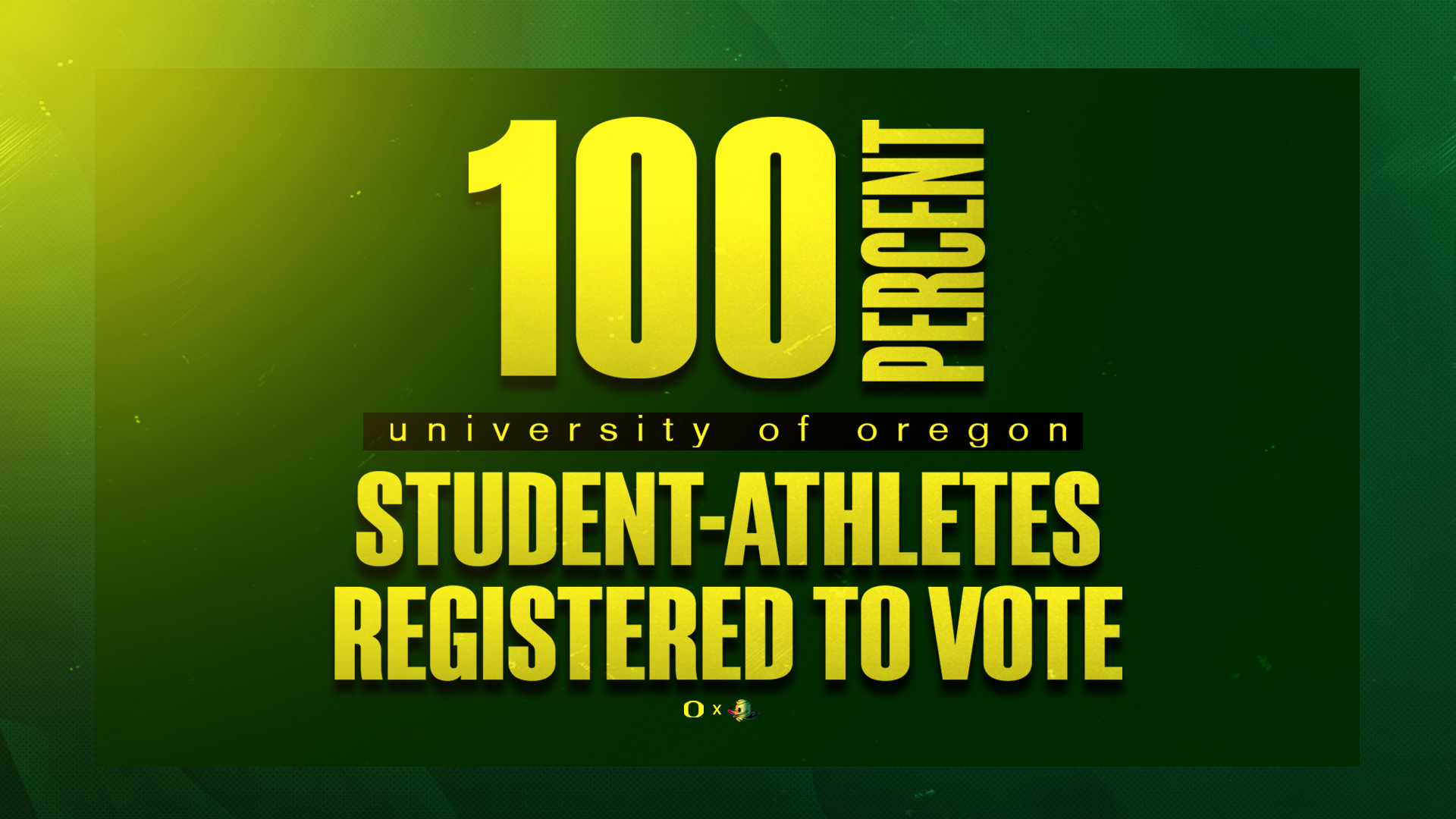 Ducks 'Keep It 100' To Mark Voter Registration Day